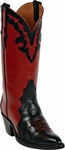 Womens Black Jack Boots Black & Red Leather Triad Custom Boots 1400