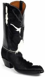 Womens Black Jack Boots Black & White Hair On Calf Custom Boots 329