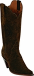 Womens Black Jack Boots Brown Suede Leather Triad Custom Boots 396