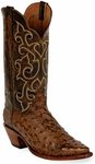Womens Black Jack Boots Burnished Cigar Full Quill Ostrich Custom Boots 237
