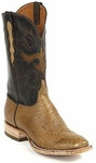 Womens Black Jack Boots Burnished Tan Smooth Ostrich Custom Boots 415