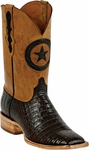 Womens Black Jack Boots Chocolate Caiman Crocodile Belly Custom Boots 250