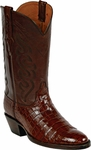 Womens Black Jack Boots Cigar Nile Crocodile Belly Custom Boots 840