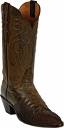 Womens Black Jack Boots Distress Brown Goat & Brown Stingray Wingtip Custom Boots 1424