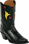 Womens Black Jack Boots KC Design Inlay Goat Peewee Custom Boots 359