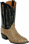 Womens Black Jack Boots Mink Full Quill Ostrich Custom Boots 232