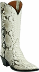 Womens Black Jack Boots Natural Python Snake Custom Boots 605