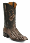 Womens Black Jack Caiman Belly Cigar Sundance With Music Inlay Custom Boot Style# 6322
