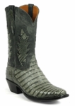Womens Black Jack Grey Caiman Crocodile Belly Custom Boots Style# 6324