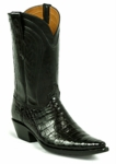 Womens Black Jack SELECT Caiman Crocodile Belly Black / Baby Calf  Style# 7101