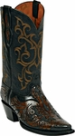 Womens Craftsman Hand Tooled Leather Custom Black Jack Boots HT-12