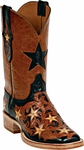 Womens Craftsman Hand Tooled Leather Custom  Black Jack Boots HT-16