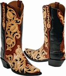 "<font color=""red"">*NEW STYLES ADDED*</font> Womens Craftsman Tooled Leather Black Jack Boots - 53 Styles"