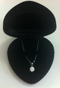 10mm CZ Diamond Solitaire Pendant (equivalent 3.5 carats)
