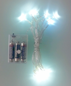 20 Bulbs Battery Operated White LED Fairy Lights