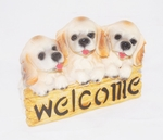 '3 Doggies Welcome' Decor Figurines