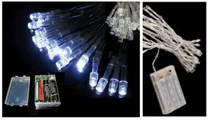 30 White LEDs Fairy Lights (AA Battery Powered)