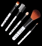 5 Pcs Designer Polkadot Makeup Brush Set
