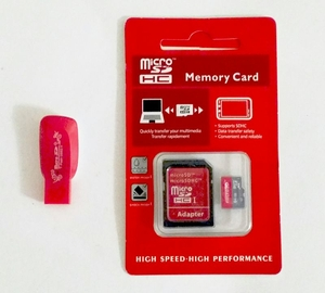 64GB Micro SD Card (with FREE SDcard & USB Adaptors)