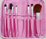 7 Pcs Make Brush Set (with matching Pink carry bag)