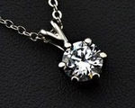 7mm CZ Solitaire Pendant (Equivalent to 1.25 Carats)