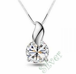 9mm CZ Solitaire Pendant (equivalent to 2.75 Carats)