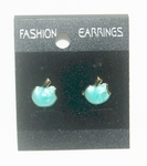 'Apple' Korea Style Stud Earrings (Green color)