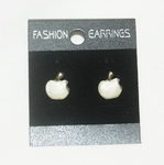 'Apple' Korea Style Stud Earrings (White color)