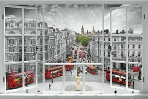 "Art Poster of Your Window to London (36"" by 24"")"