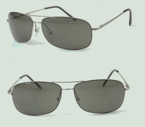 Aviator Sunglasses (metal frame & Grey lens)