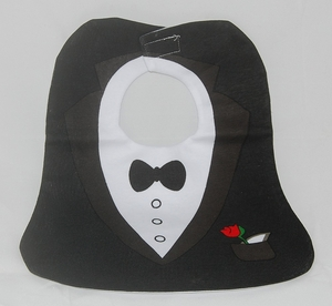 "Baby Bibs - ""Black Jacket"" Novelty (Big Size)"