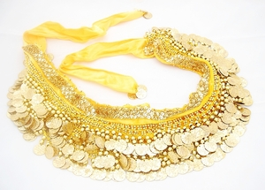 Belly Dancing Decorative Sash Accessory (Yellow Gold)