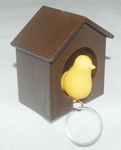 'Bird House' Keychain Holder (Color Yellow/Brown)