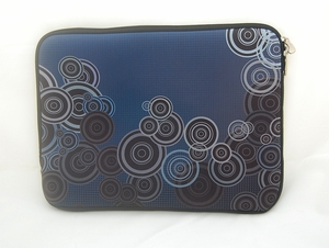 "Blue Circles Motif Laptop Sleeve (14"" inch)"