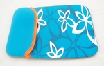 "Blue Flower Motif Laptop Sleeve (10"" inch)"