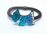 Blue Rhinestone Crystals Studded Hairband