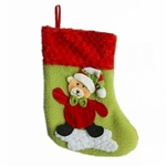 'Brown Bear' Christmas Stocking (Small, 20cm long)