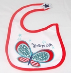 "Carter's Baby Bib - Butterfly ""4th July"""