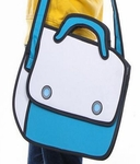 'Cartoon-style' 'Blue' 2D-to-3D Bag