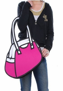 "'Cartoon-style' 'Pink"" 2D-to-3D Bag"
