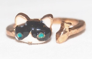 'Cat & Fish' Korea Style Ring