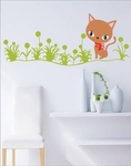 Cat Motif  - PVC Wall Decal Sticker