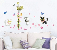 Cats Cafe Theme - PVC Wall Decal Sticker