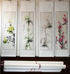 Chinese Painting Traditional Four Iconic Flowers