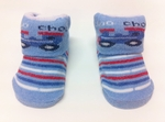 ''Choo Choo Train' Cute Baby Socks (Blue, suitable for 6-24 months)