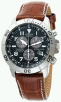 Citizen Men's Eco Drive Chronograph Watch (Model BL5250-02L with Leather Strap)