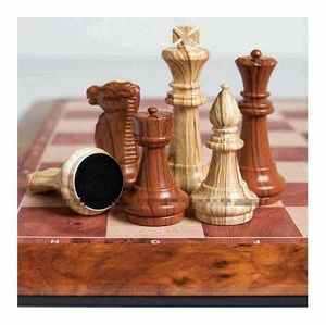 Classic Chess Set Hickory Wood Pieces