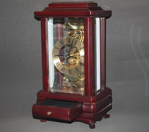 Classic Standing Table Clock in Wood Casing