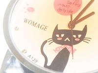 Classy Black Cat' 'Ladies Dress Watch