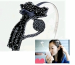 Classy Cat Hairband with Black Beads